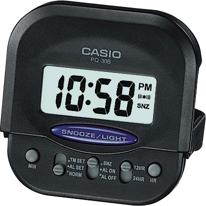 Reloj despertador digital casio pq30b-1 mini