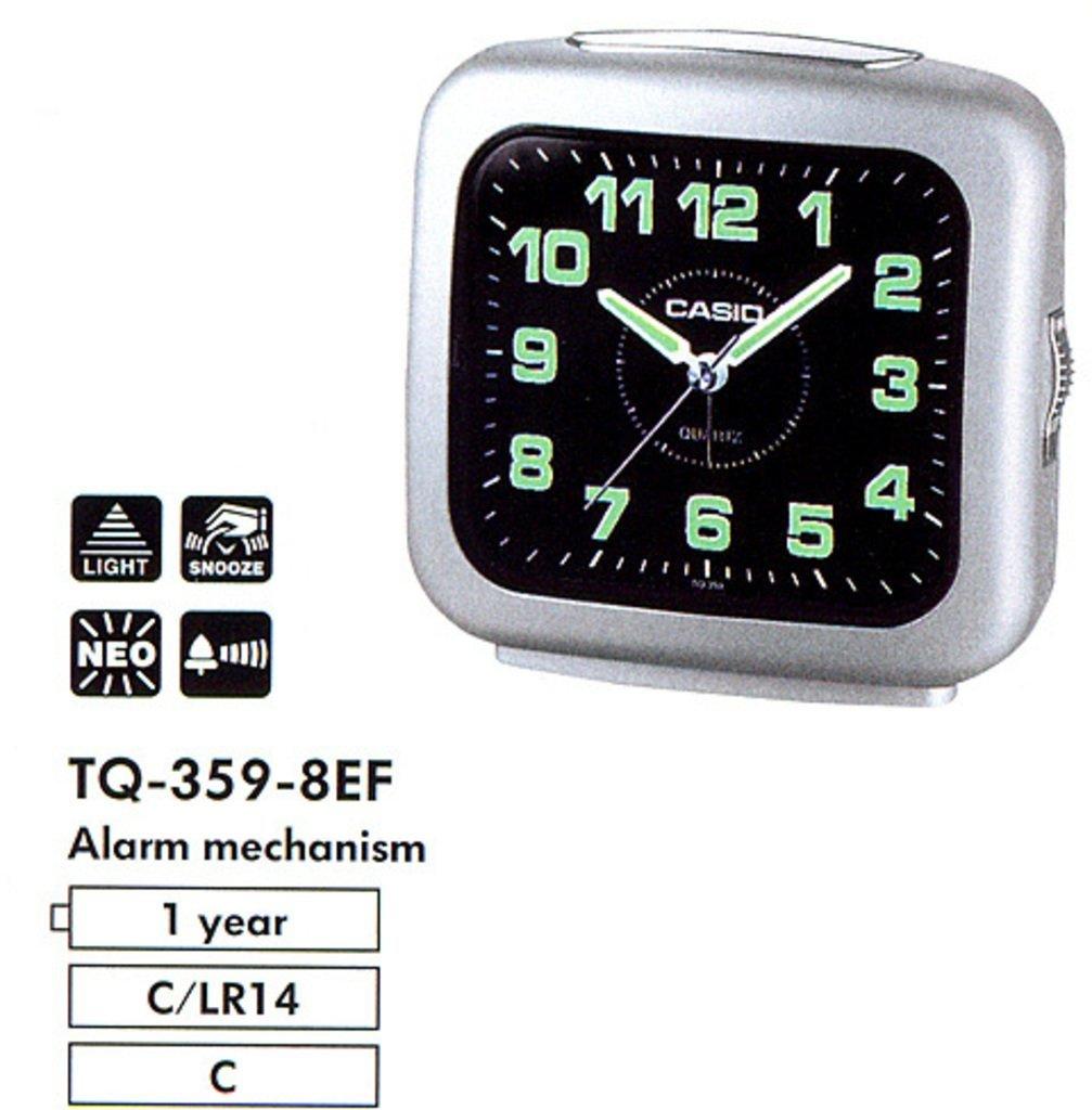 Reloj despertador Casio TQ-359-8