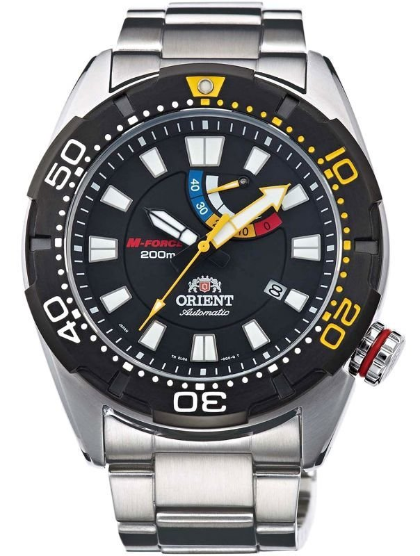 Orient SEL0A001B M-Force Automatic Power Reserve Sapphire Japan 200M Gent's Divers Watch