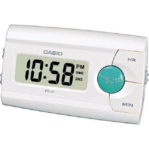Reloj despertador Casio PQ-31-7EF color blanco