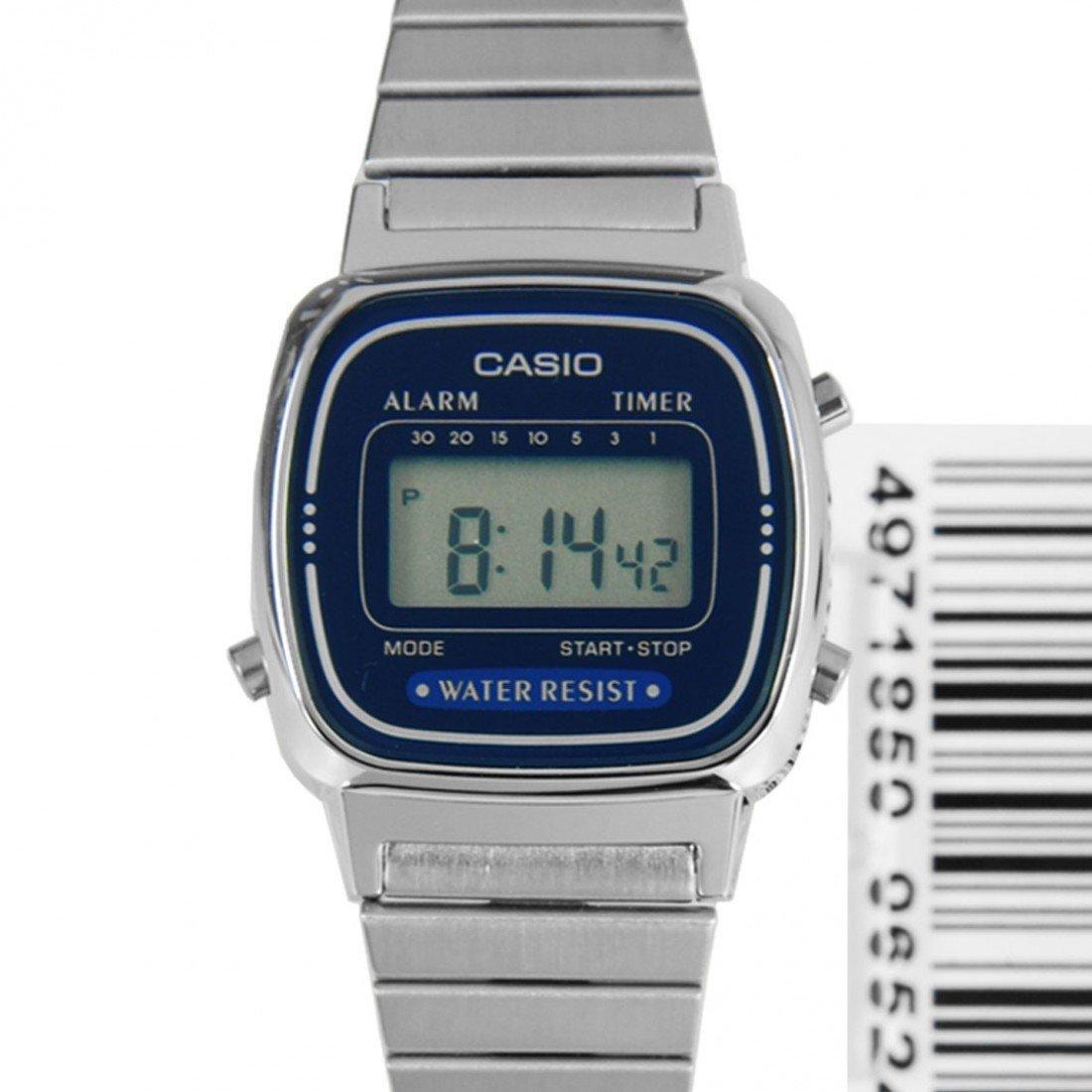 Reloj casio collection LA670WA-2dF cronografo multifuncional - acero inoxidable - water resist