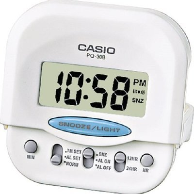 Reloj Casio despertador PQ-30B-7EF BLANCO