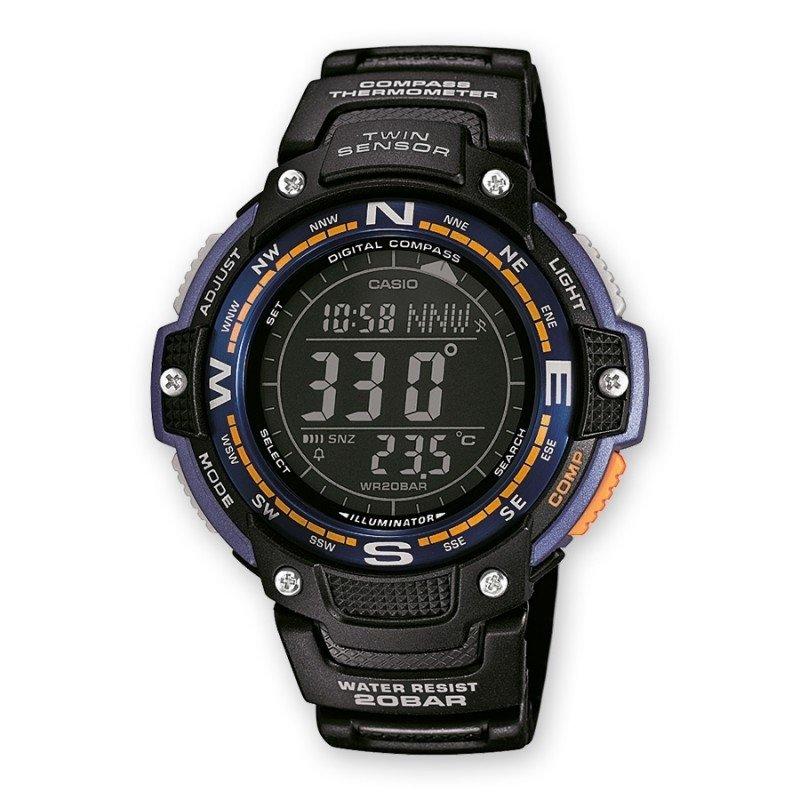 reloj hombre Casio Twin Sensor SGW-100-2B Brújula - Termómetro
