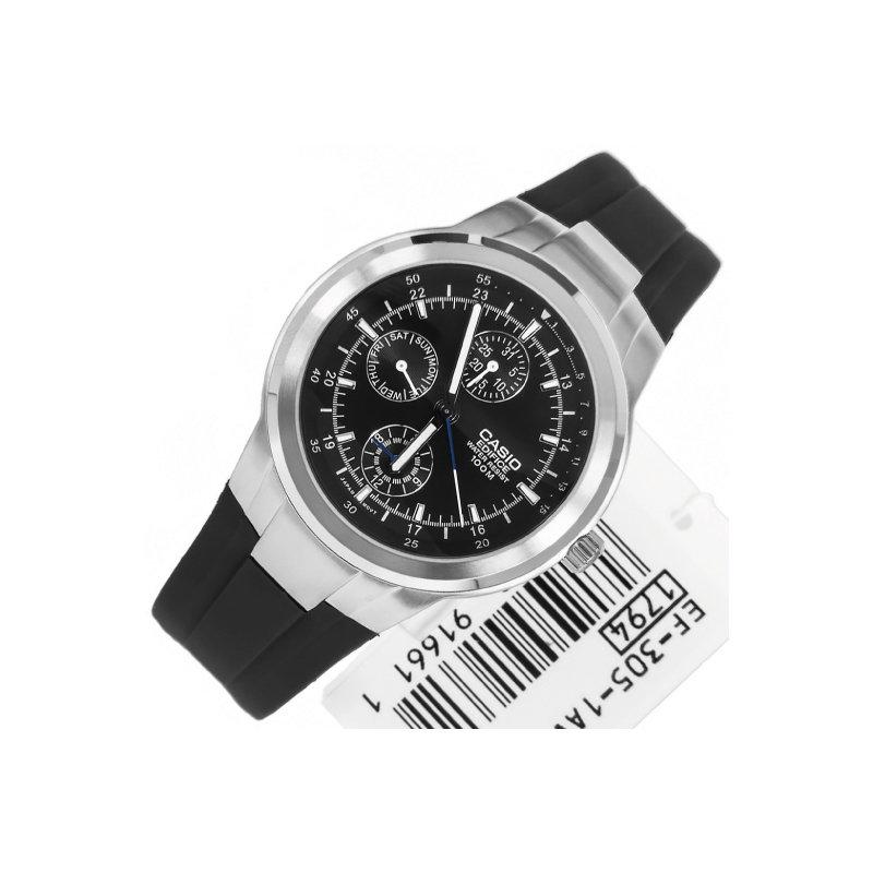 Reloj Casio Edifice  EF305-1a cronografo multifuncional caballero