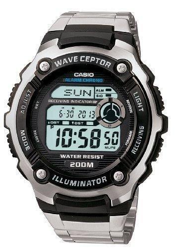 reloj hombre radiocontrol Casio waveceptor wv-200da-1a hora atómica acero inoxidable