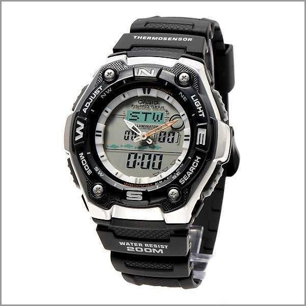 Reloj hombre Casio phising gear aqw-101-1a modo pesca - cronografo multifuncion