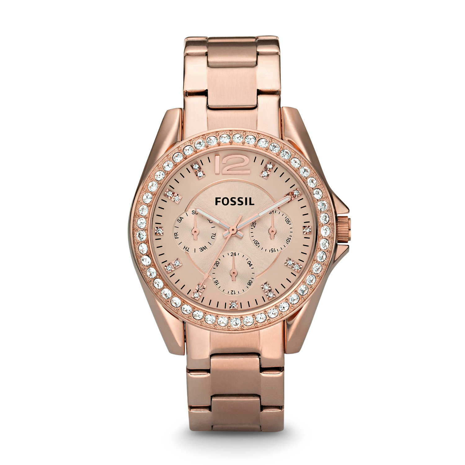 reloj mujer Fossil Riley Multifunction Rose Gold-plated Ladies Watch ES2811 oro rosado