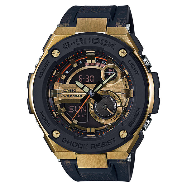 reloj hombre Casio G-SHOCK G-Steel Men's GST200CP-9A Super Illuminator World Time Gold