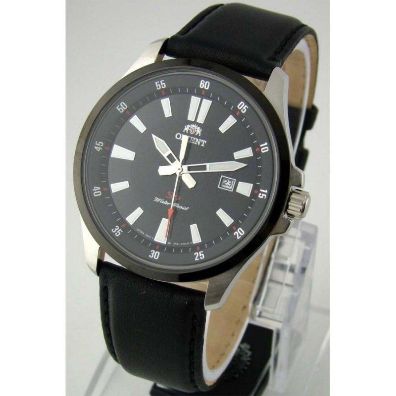 reloj hombre Orient Sports FUNE1002B correa cuero esfera negra