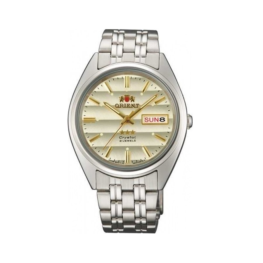 Reloj automático Orient 3 Star ORIENT FAB0000DC BEIGE Dial Stainless Steel Band