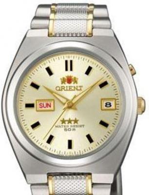 Reloj hombre automático Orient 3 Star FEM5L00TC BEIGE correa acero