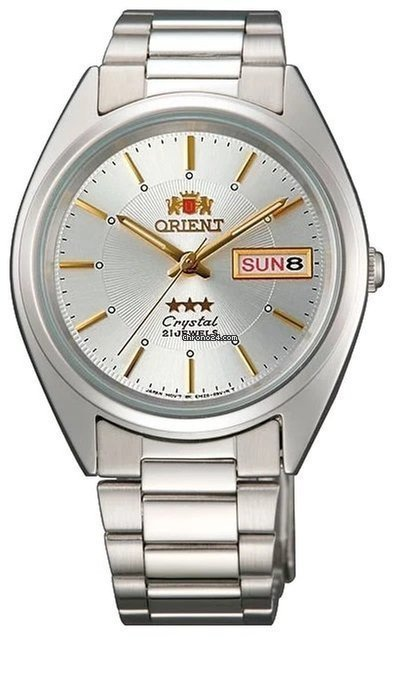 Reloj automático Orient 3 Star FAB00006w silver Dial Stainless Steel Band
