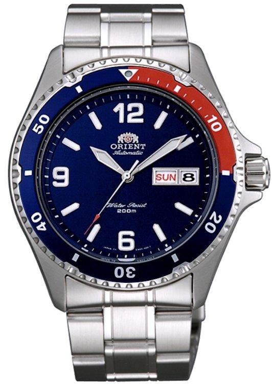 Reloj hombre automático Orient Mako II diver FAA02009D Pepsi correa acero azul rojo