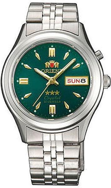 Reloj hombre automático Orient 3 Star FEM0301WF verde correa acero