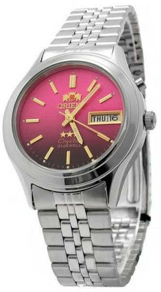 Reloj hombre automático Orient 3 Star FEM0301XH ROSA correa acero