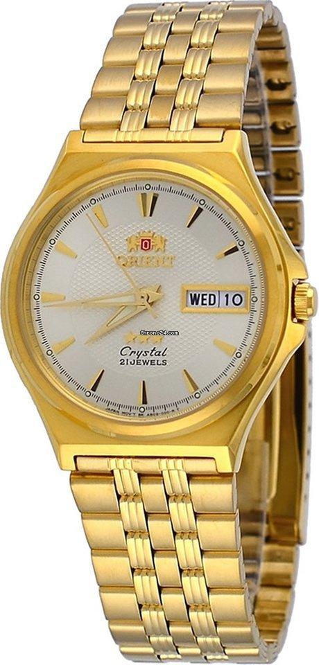Reloj hombre automático Orient 3 Star FAB05001C DORADO correa acero