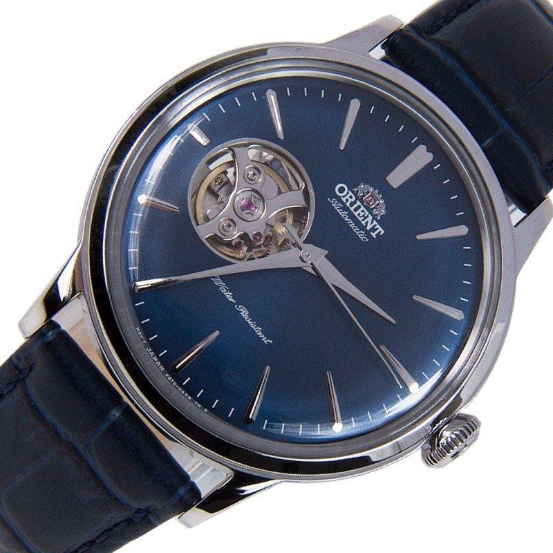 reloj hombre automático Orient RA-AG0005L OPEN HEART esfera azul correa cuero