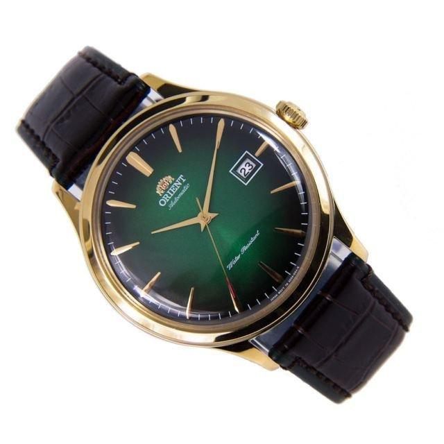 reloj hombre automático Orient Bambino FAC08002F verde cuero