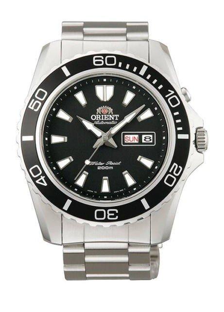 reloj hombre automático Orient Mako XL FEM75001B negro acero