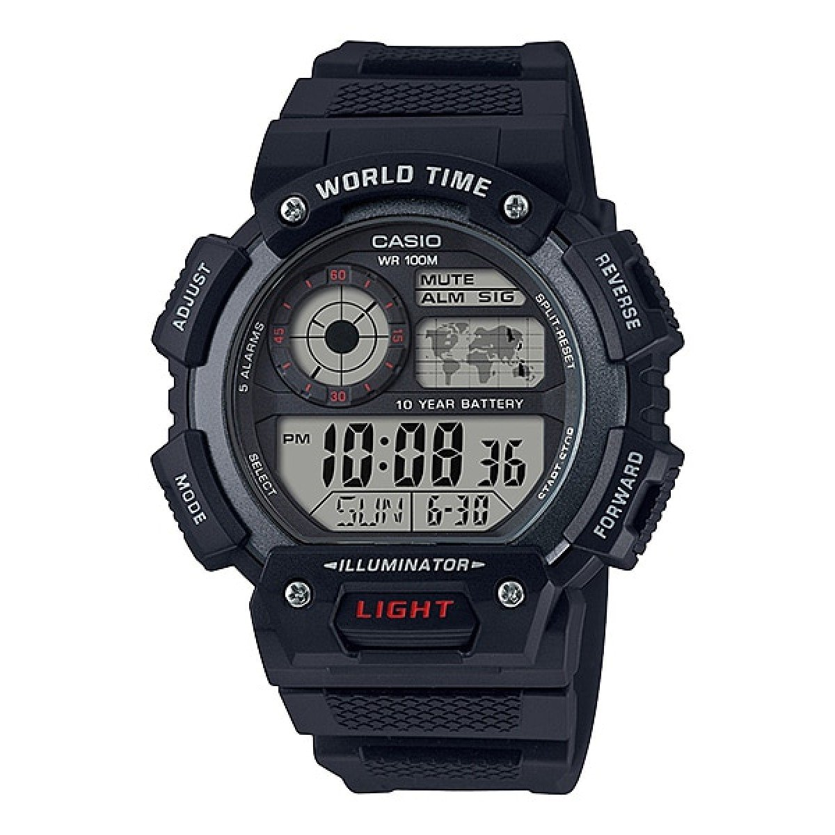 Reloj Casio Quartz Alarms Mens Watch AE-1400WH-1AV