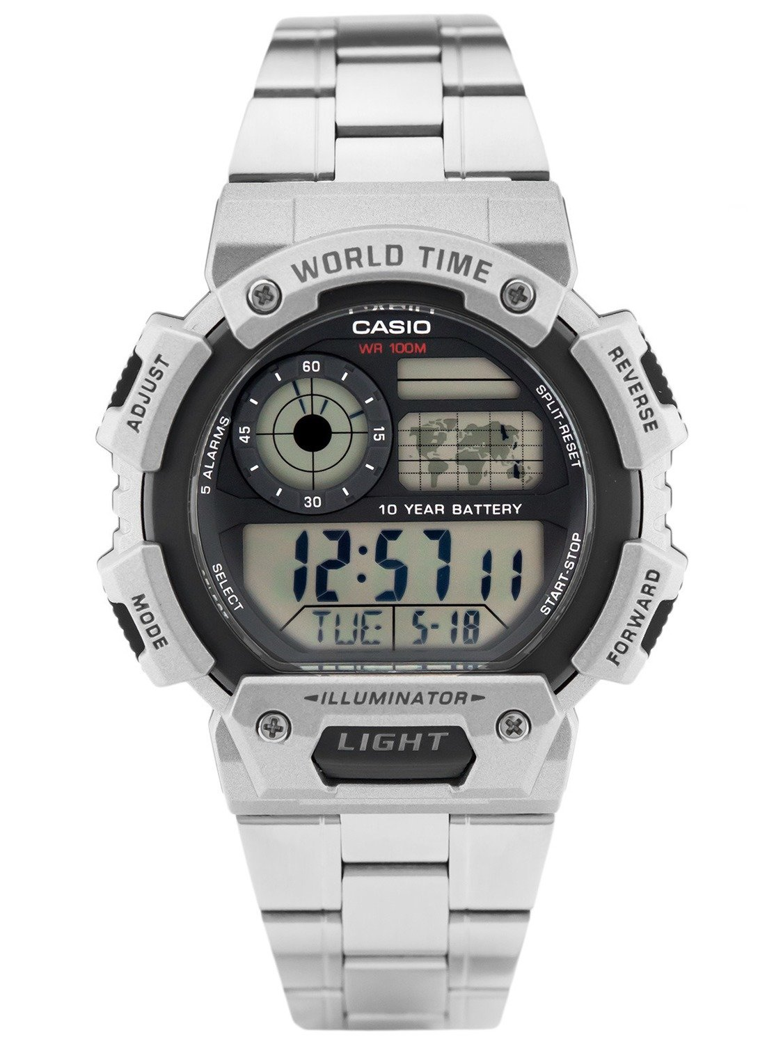 Reloj CASIO QUARTZ ALARMS WATCH AE-1400WHD-1AV