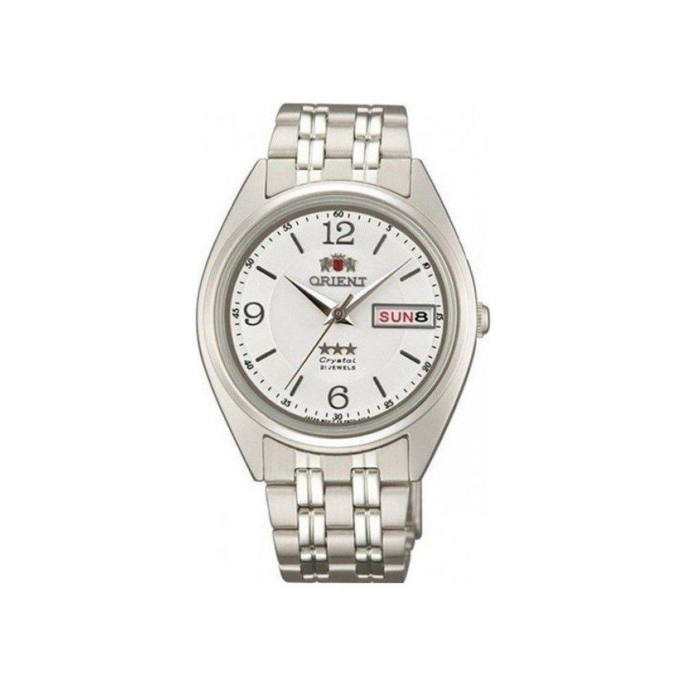 Reloj hombre automático Orient 3 Star FAB0000EW blanco plata correa acero