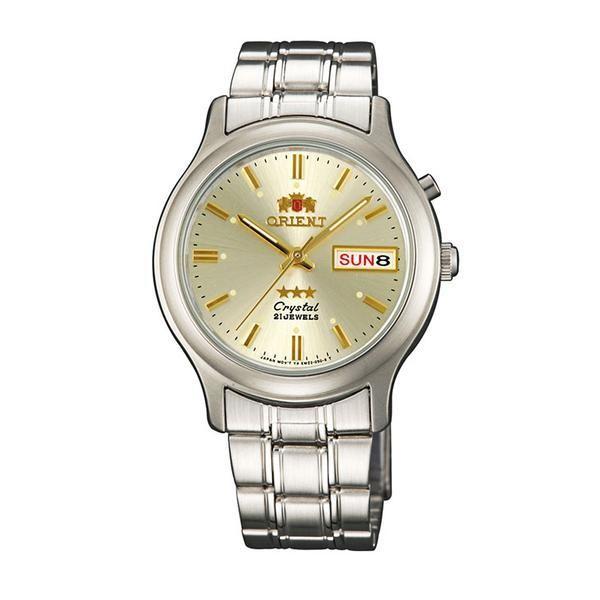Reloj hombre automático Orient 3 Star FEM0201ZC plata - dorado correa acero