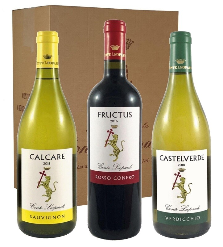 CASTELVERDE + FRUCTUS + CALCARE N. 3 Confezioni da 6 Bottiglie (in tutto 18 Bottiglie)