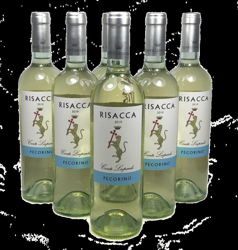 RISACCA- Falerio Pecorino Doc 2019 Confezione da 6 Bottiglie