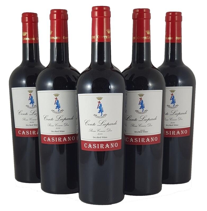 CASIRANO Rosso Conero Doc 2016 Confezione da 6 Bottiglie