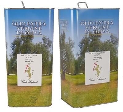Olio extra vergine di oliva 2019 -    N. 2 Latte da 5 Litri