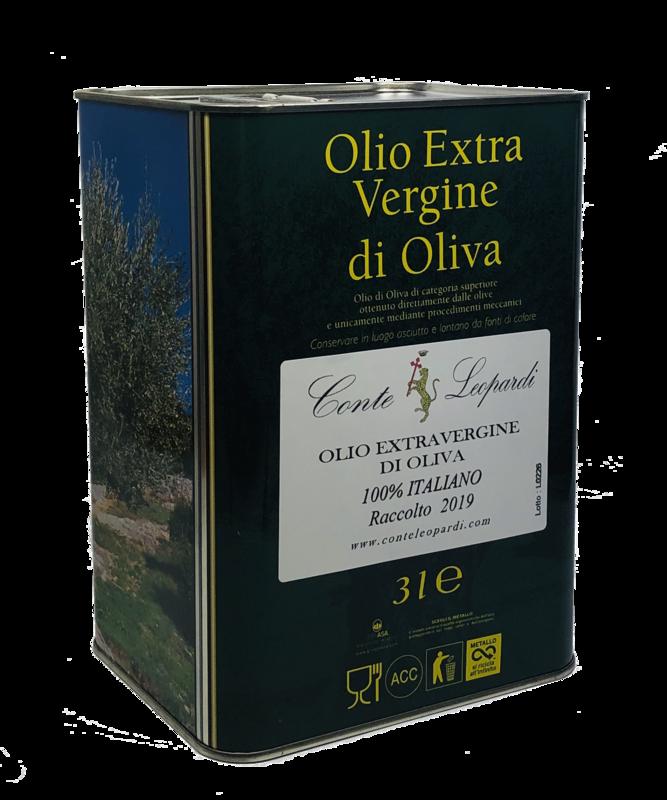 Olio Extra Vergine di Oliva 2019 - Latta da 3 Litri