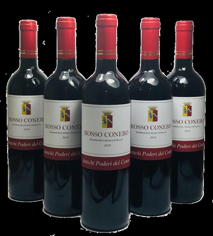 ROSSO CONERO DOC Antichi Poderi del Conte 2018 Confezione da 6 bottiglie