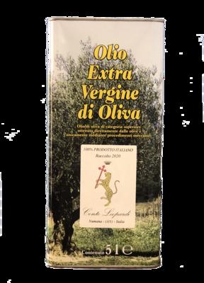 Olio Extra Vergine di Oliva 2020 - 1 Latta da 5 Litri