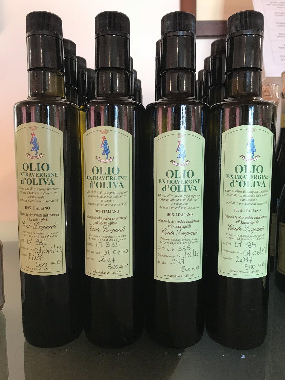 6 bottiglie Olio Extra Vergine di Oliva 2019 Conte Leopardi - Bottiglia da 500 ml