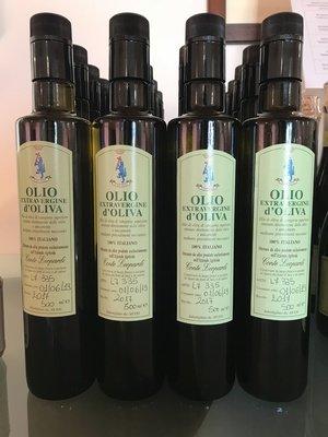 Olio Extra Vergine di Oliva 2019 Conte Leopardi - Bottiglia da 500 ML Confezione da 6 Bottiglie