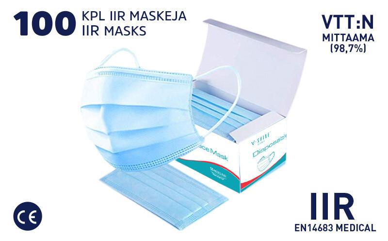 IIR SUOJAMASKI - 100 KPL