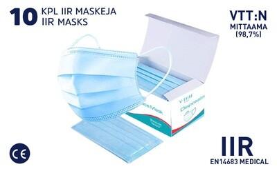 IIR SUOJAMASKI - 10 KPL