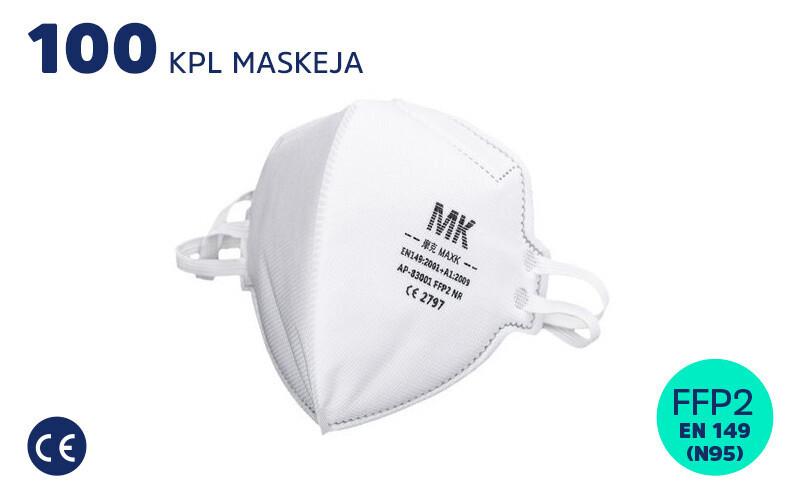 FFP2 HENGITYSSUOJAIN (N95/KN95) - 100 KPL
