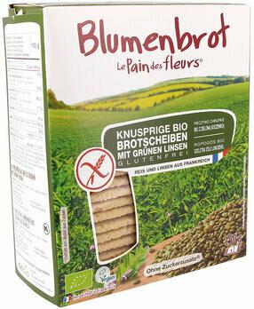 Knusprige Bio grüne Linsen-Schnitten, 150 g