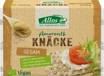 Amaranth-Vollkorn-Knäckebrot mit Sesam, 250 g