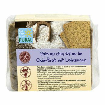 Chia Brot mit Leinsamen glutenfrei, 375 g