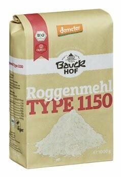 Lichtkorn Roggenmehl Type 1150 demeter, 1 kg