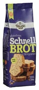 Schnellbrot Backmischung mit Brotgewürz, glutenfrei, 500 g