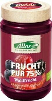 Frucht Pur 75% Aufstrich, Waldfrucht, 250 g