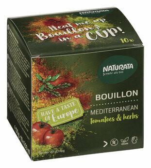 Bouillon Mediterranean - tomatoes & herbs, 10 x 5g