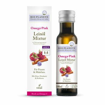 Omega Pink Leinölmixtur, 100 ml