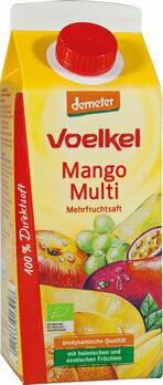 Mango-Multi Mehrfruchtsaft demeter Elopak, 750 ml