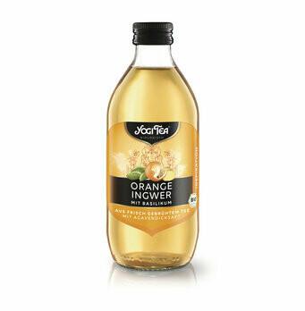 Teekaltgetränk, Orange Basilikum, 330 ml