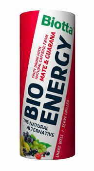 Bio Energy Fruchtgetränk mit Koffein, 250 ml